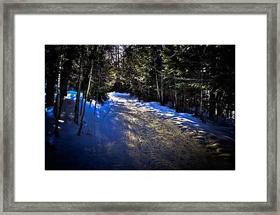 Where Snowmobiles Go Framed Print by David Patterson