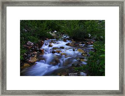 Where The Cool Water Flows Framed Print by Jeff Swan