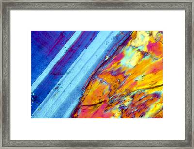 Where The Lava Meets The Ocean Framed Print by Tom Phillips
