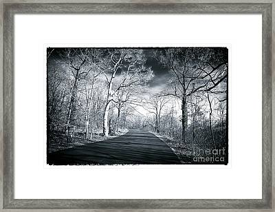 Where The Road Leads Framed Print by John Rizzuto