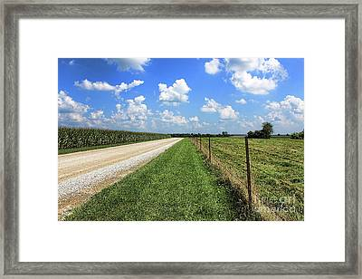 Where The Road May Take You Framed Print by Cathy  Beharriell