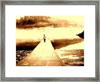 Where The Sidewalk Ends Framed Print by Amy Sorrell