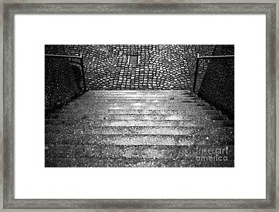 Where The Steps Lead In Salzburg Framed Print by John Rizzuto