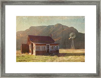 Where Time May Forget Me Framed Print by Brett Pfister