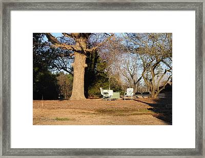 Where We Sit And Watch The World Go By Framed Print by Paulette B Wright