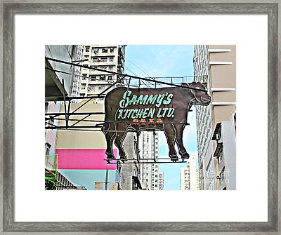Where's The Beef Framed Print by Ethna Gillespie
