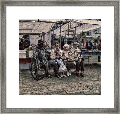 Which One Is The Statue Framed Print by Doc Braham