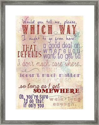 Which Way Framed Print by Heather Applegate