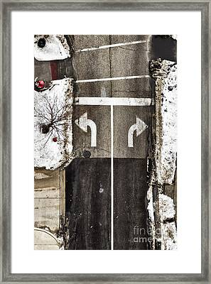 Which Way Framed Print by Margie Hurwich