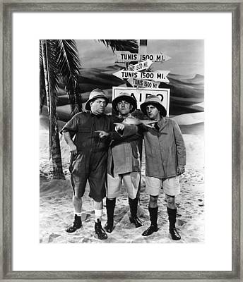 Which Way To Tunis? Framed Print by The Three Stooges