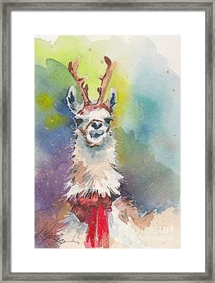 Whidbey Island Reindeer Framed Print by Judi Nyerges