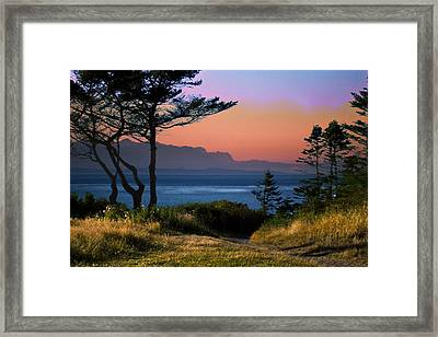Whidbey Island Sundown Framed Print by Georgianne Giese