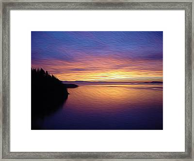Whidbey Island Sunset Framed Print by Mia DeBolt