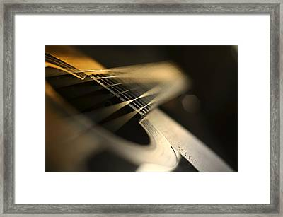 While My Guitar Gently Weeps Framed Print by Laura Fasulo