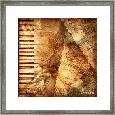 While My Guitar Gently Weeps Framed Print by Lianne Schneider
