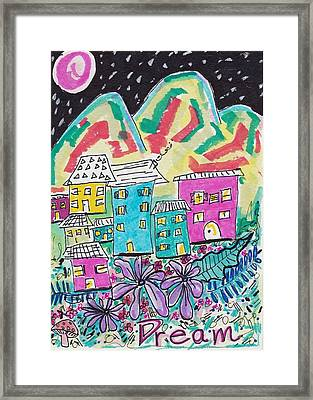 Whimsical Dream Framed Print by Rosalina Bojadschijew
