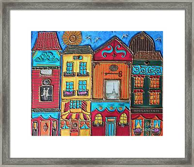 Whimsical Street In Paris 1 Framed Print by Cynthia Snyder