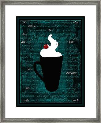 Whipped Cream Coffee Framed Print by Barbara St Jean