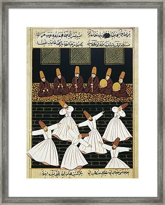 Whirling Dervishes 16th C.. Ottoman Framed Print by Everett