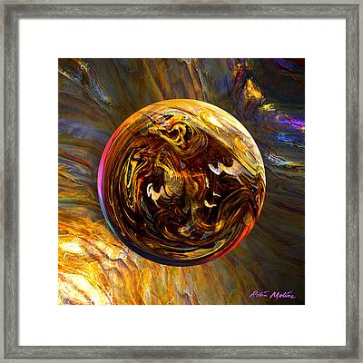 Whirling Wood  Framed Print by Robin Moline
