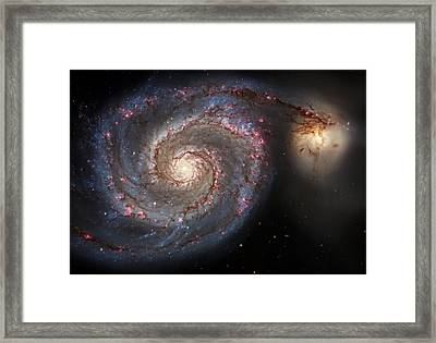 Whirlpool Galaxy 2 Framed Print by The  Vault - Jennifer Rondinelli Reilly