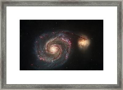 Whirlpool Galaxy M51 Framed Print by Celestial Images