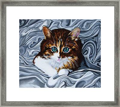Whiskers The Cat Framed Print by Annette Jimerson