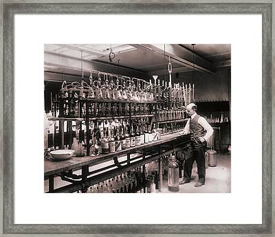 Whiskey Test Lab  1914 Framed Print by Daniel Hagerman
