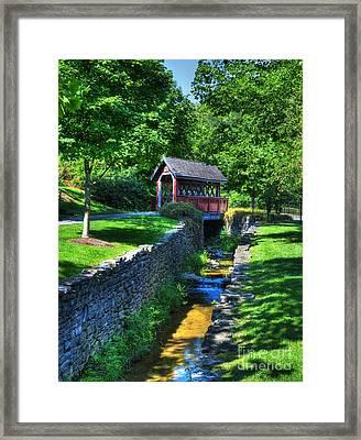 Whisky Creek Bridge Framed Print by Mel Steinhauer