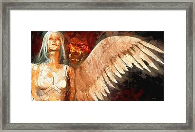 Whisper Between Heaven And Hell Framed Print by Bob Orsillo