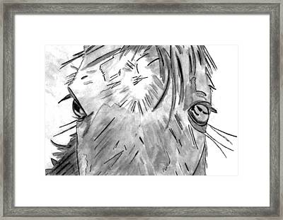 Whisper - Black And White Framed Print by Elizabeth Briggs