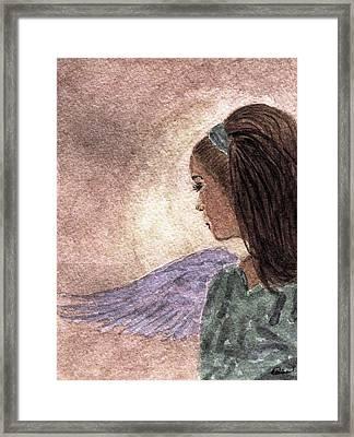 Whisper Of Wings Framed Print by Angela Davies