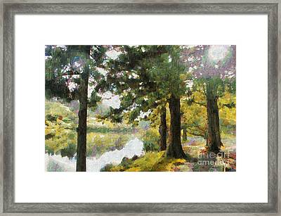 Whisper Through The Trees Framed Print by Gee Lyon