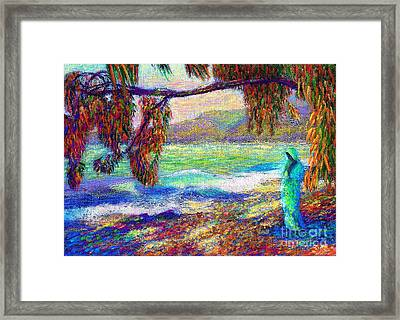 Whispering Waves Framed Print by Jane Small
