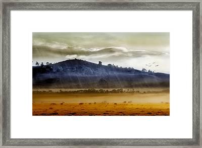 Whisps Of Velvet Rains... Framed Print by Holly Kempe