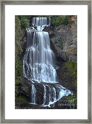 Whistler Bc Alexander Falls Framed Print by Adam Jewell