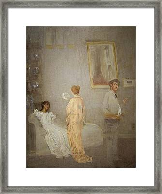 Whistler In His Studio Framed Print by James Abbott McNeil Whistler