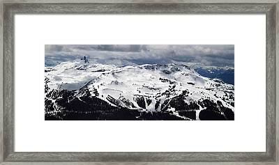Whistler Mountain View From Blackcomb Framed Print by Pierre Leclerc Photography