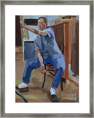 Whistler Self Portrait Framed Print by Whistler Kenworthy