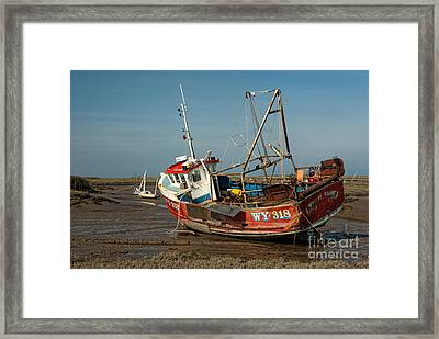 Whitby Crest At Brancaster Staithe Framed Print by John Edwards