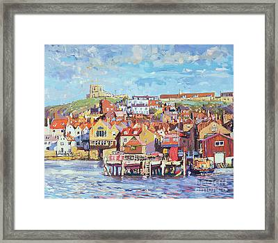 Whitby Framed Print by Martin Decent