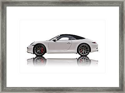 White 911 Framed Print by Douglas Pittman