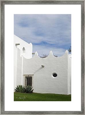 White Adobe Framed Print by Cheri Randolph