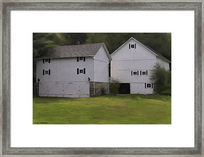 White Barns Framed Print by Fran Gallogly
