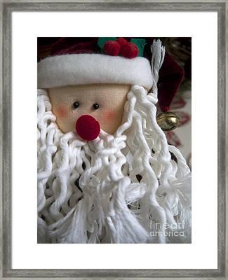 White Beard Framed Print by Gillian Singleton