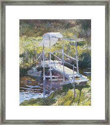 White Bridge Framed Print by John Twachtman