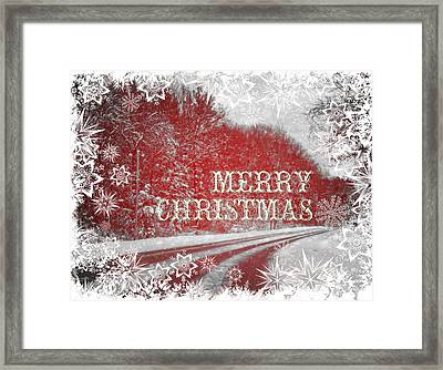 White Christmas Framed Print by Dan Sproul