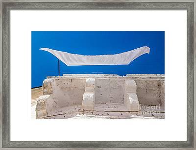 White Cloth Framed Print by Sabino Parente