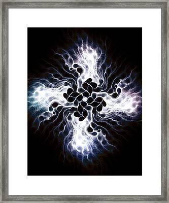 White Cross Framed Print by Anastasiya Malakhova