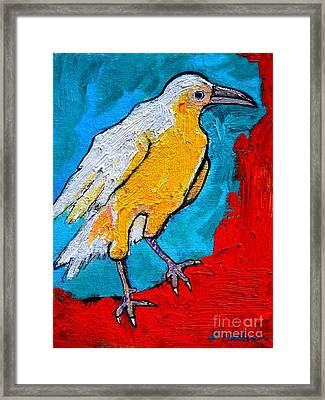 White Crow Framed Print by Ana Maria Edulescu